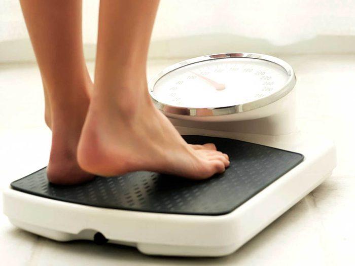Faire de l'exercice régule votre poids.