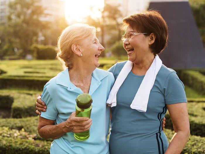 Faire de l'exercice garde votre coeur en santé.