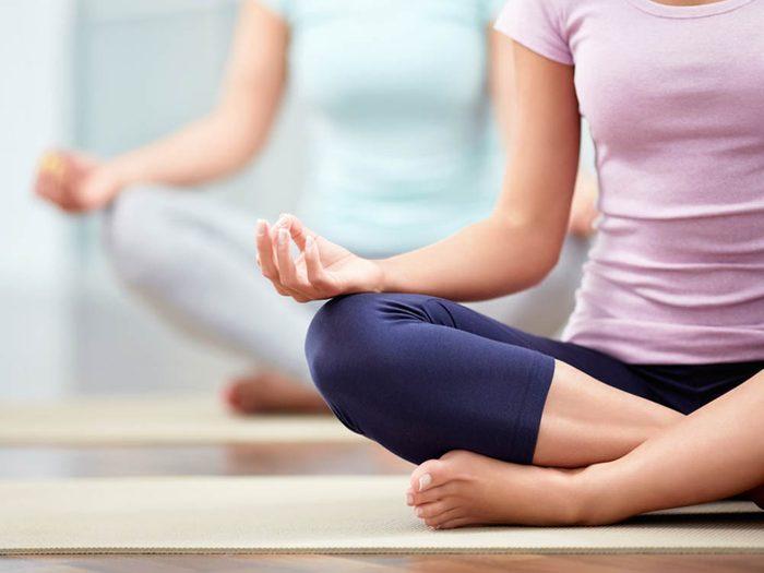 Faire de l'exercice diminue le stress.