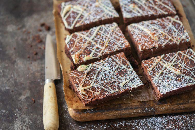 Gâteau au chocolat et pois chiches.