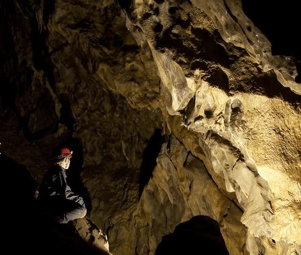Visite de grotte en Alberta.