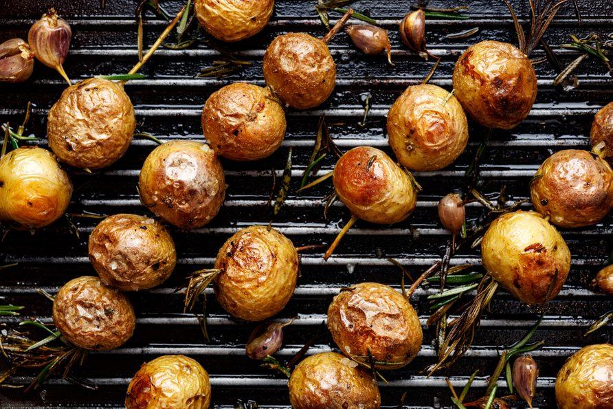 Une recette de pommes de terre grelot.