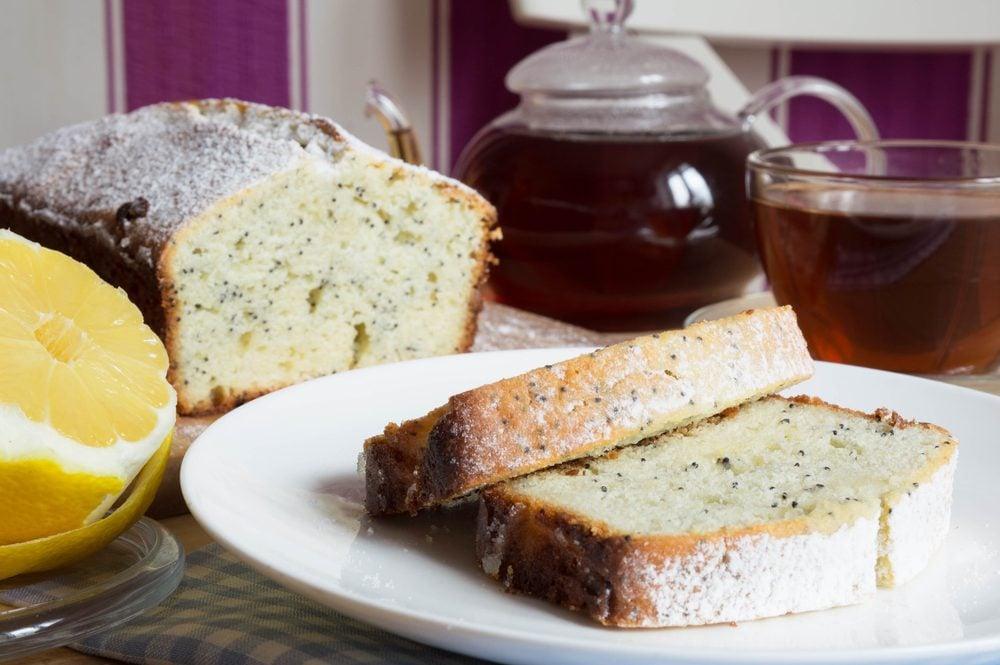 Une recette à base de citron de gâteau aux graines de pavot