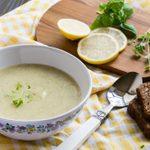 Soupe froide à la courgette et au citron