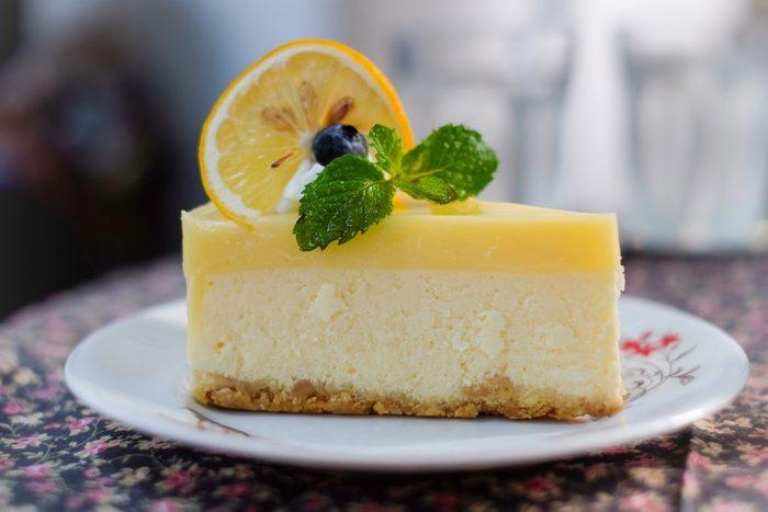 Une recette à base de citron, la tarte au fromage.