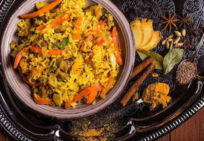 Une recette de biryani pour cuisiner les pommes de terre.
