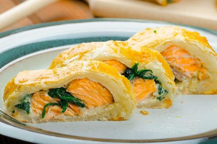 Une recette santé d'aumônières au saumon.