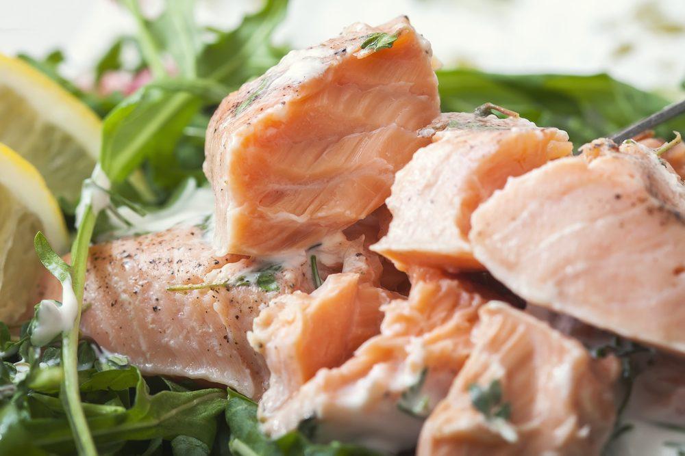 Une recette santé de saumon poché