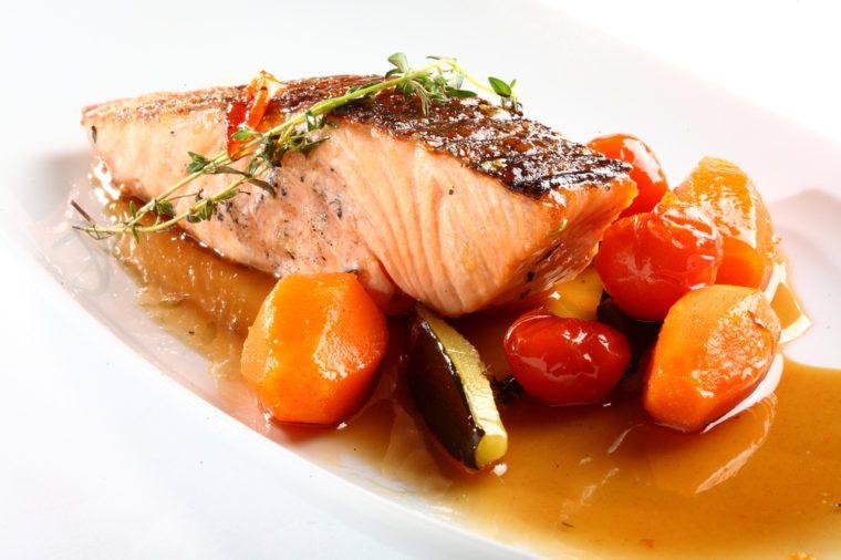 Un saumon santé.