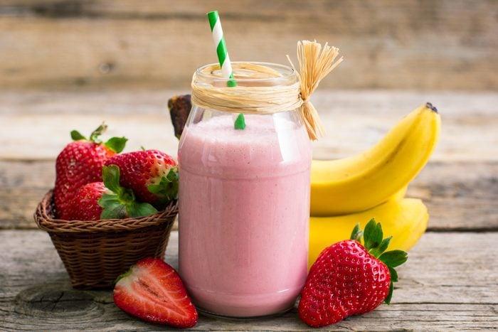 Recette de smoothie aux fruits.