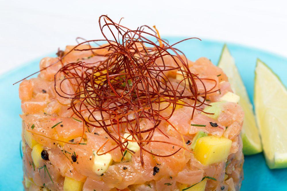 Recette de tartare de saumon.
