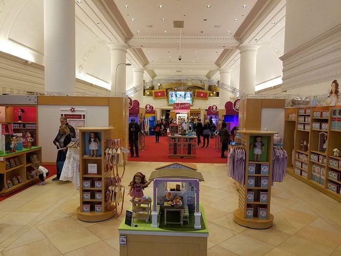 Le magasin de jouets American Girl Place à Chicago.