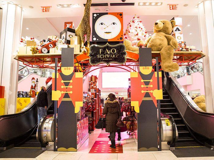 Le magasin de jouets FAO Schwarz à New York.