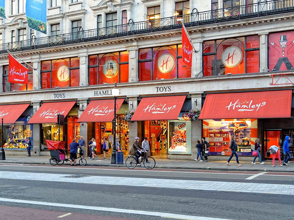 Le magasin de jouets Hamleys àLondres.