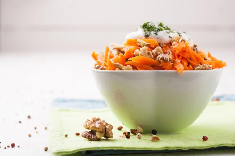 Une recette de salade santé aux carottes.