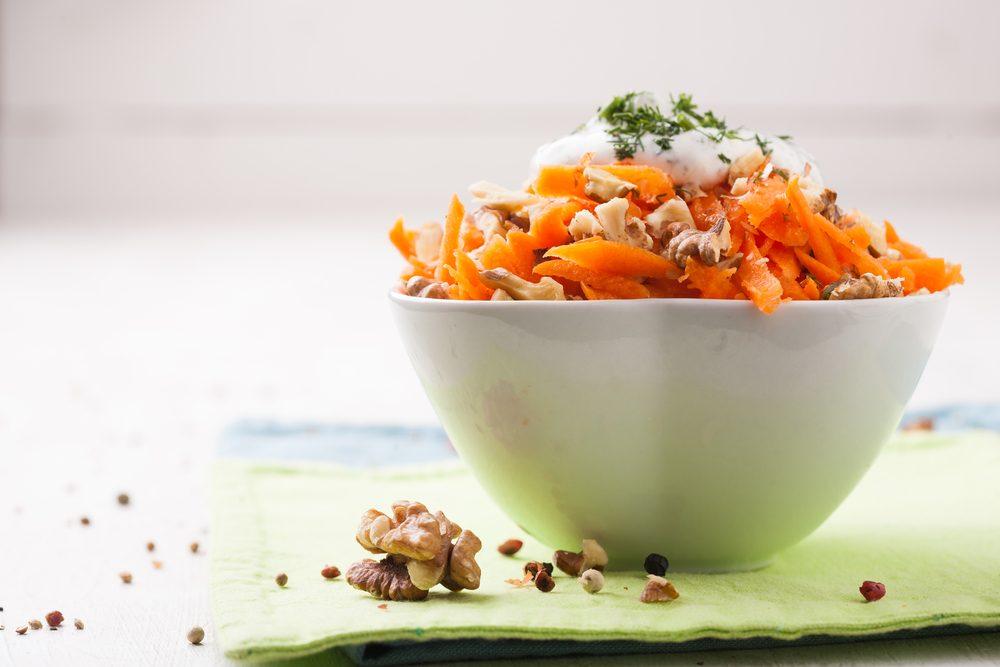 Une recette de salade santé aux carottes