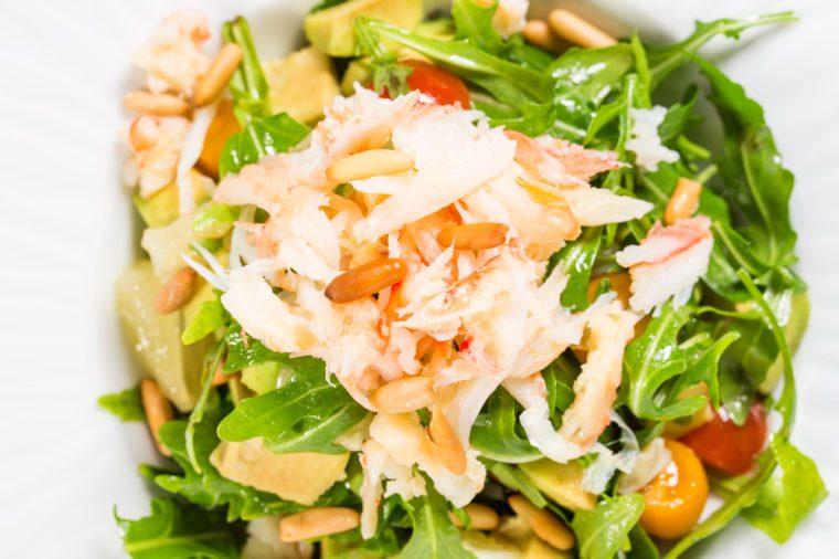 Une recette de salade santé aux fruits de mer.