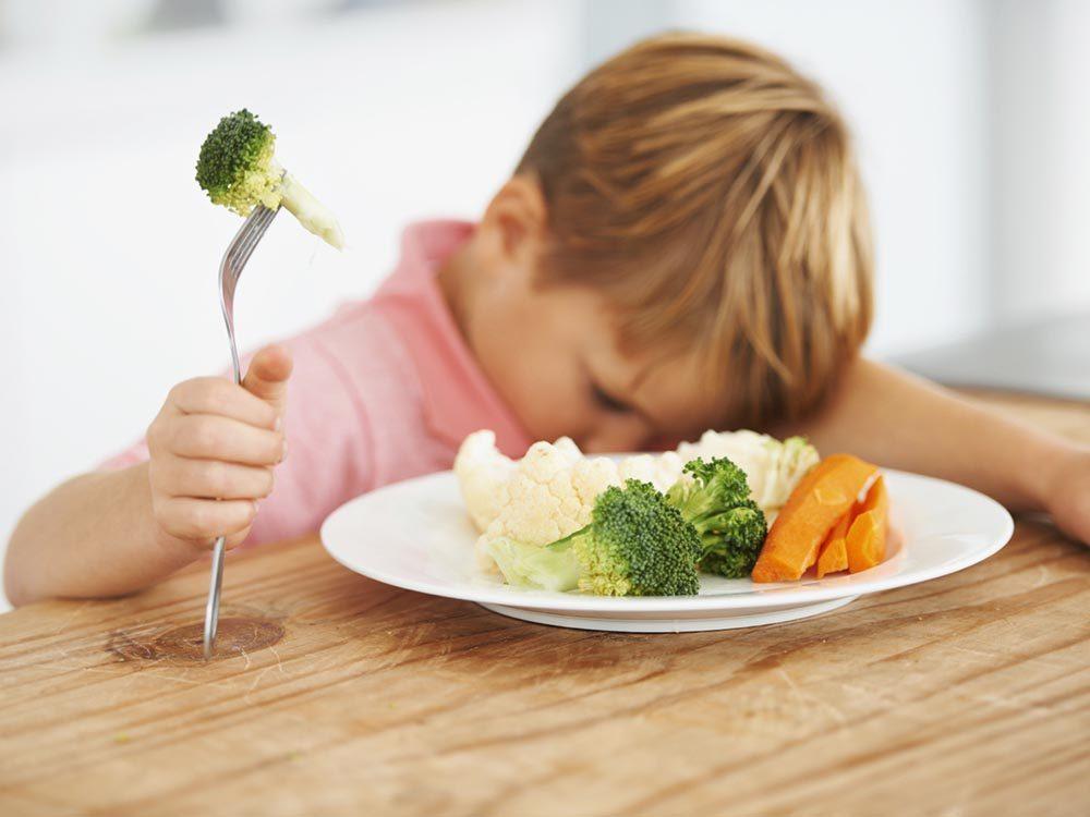 Pour des repas santé en famille, réduisez la quantité de