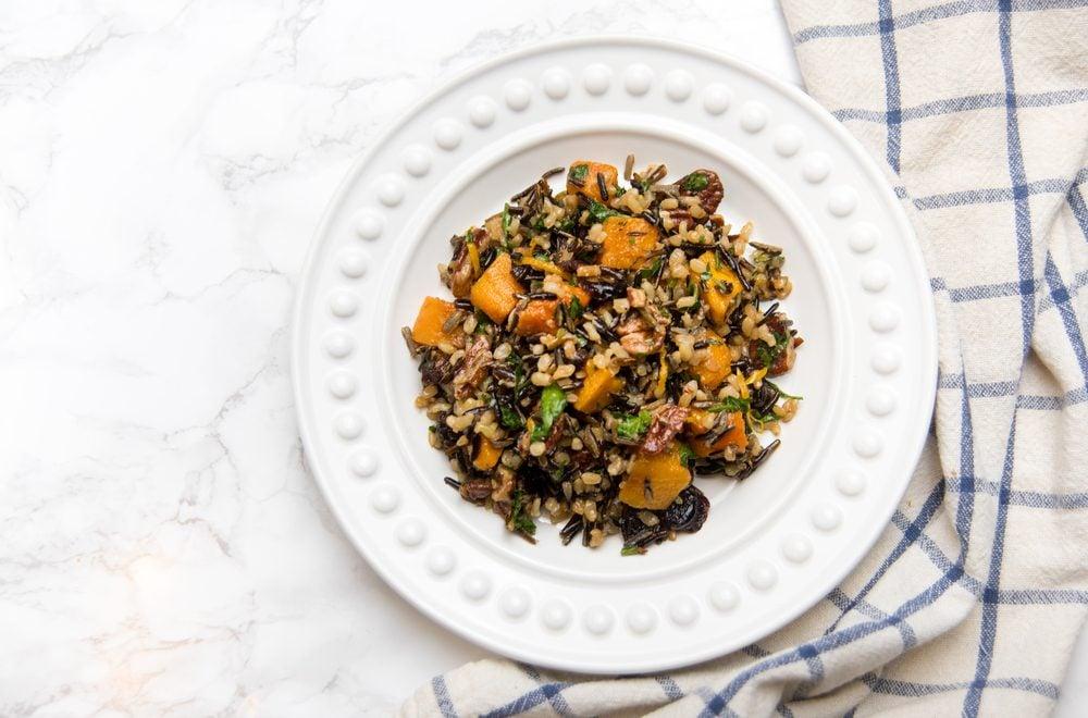 Une recette de salade santé au riz sauvage.