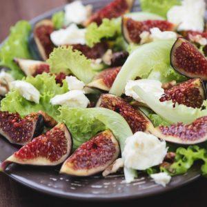 Mesclun aux figues fraîches