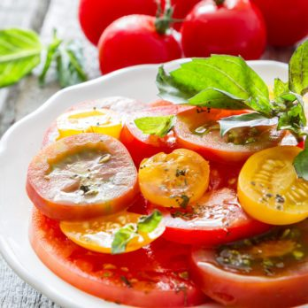 Salade de tomates grillées
