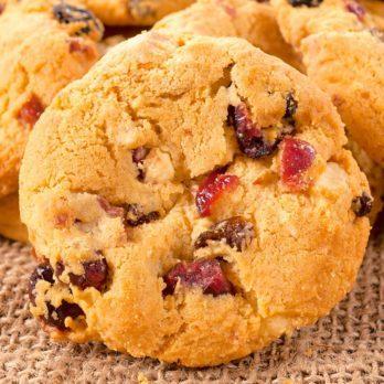 Biscuits à la rhubarbe et à la canneberge