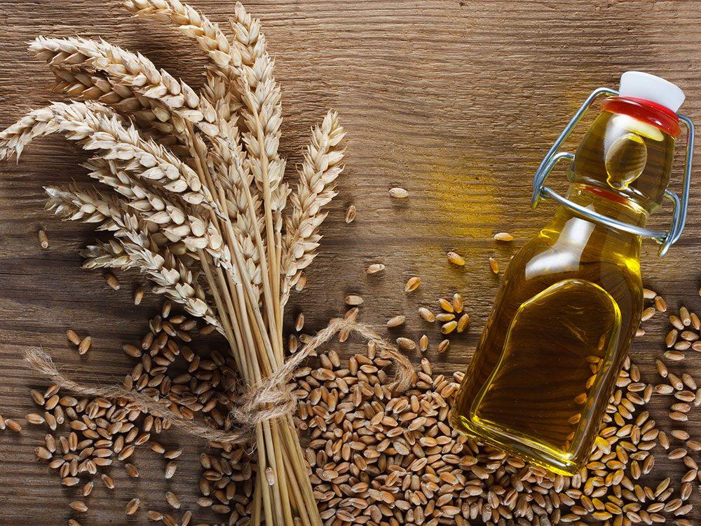 Les germes de blé sont des graines bonnes pour la santé.