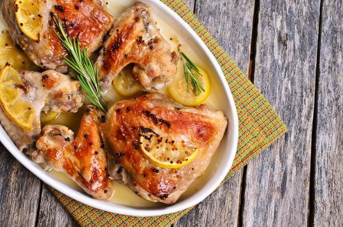 Un poulet à la dijonnaise rapide.