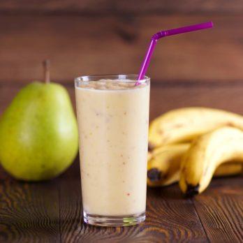 Recette de smoothie santé à la bananes et aux poires