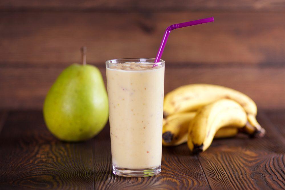 Un smoothie banane et poire santé