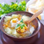 Soupe chinoise au poulet et maïs