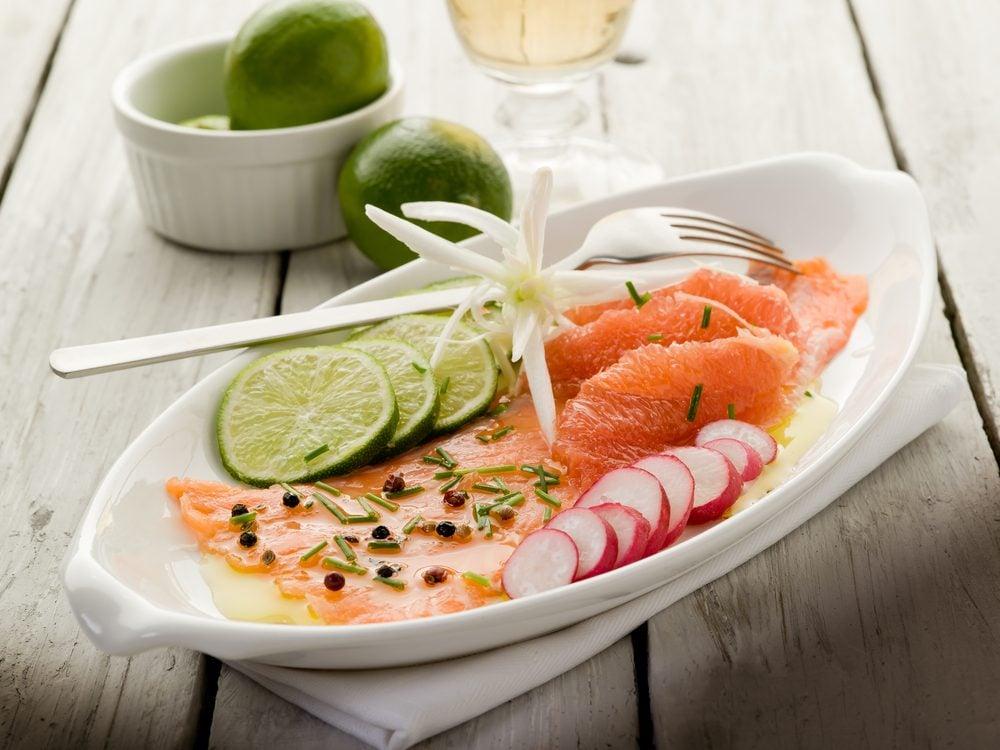 Une recette prête en moins de 30 minutes de poisson au pamplemousse