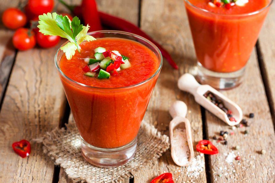 Une recette rapide de gaspacho.
