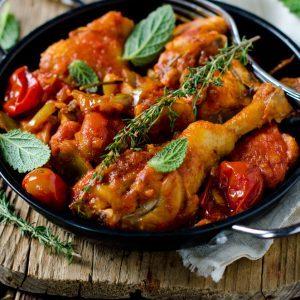La meilleure recette de poulet aux amandes et tomates