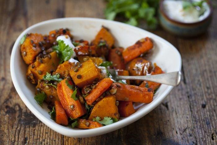 Courge et légumes à l'indienne