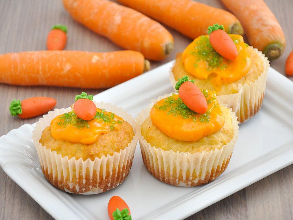 Cupcakes aux carottes et au panais.