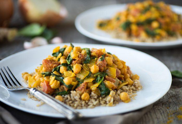 Une recette de curry de pois chiches pour baisser le taux de cholestérol