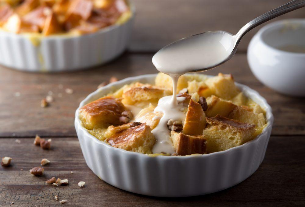 Parmi nos desserts aux légumes, une recette de pouding au pain.