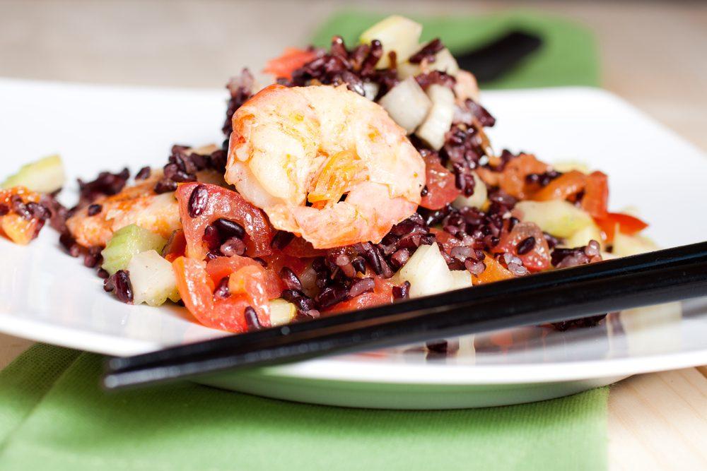 Une recette de salade de kasha aux fruits de mer pour faire baisser son cholestérol