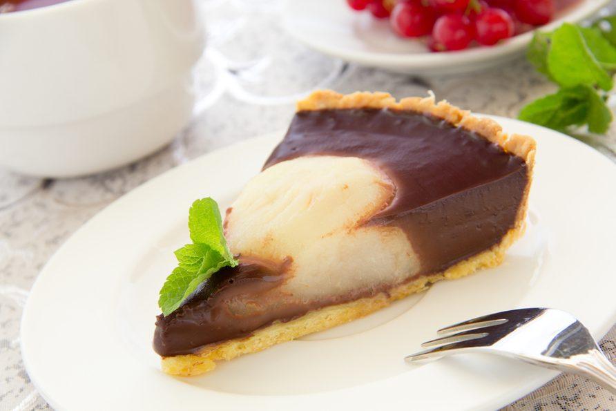 Une recette de tarte aux poires chocolatée