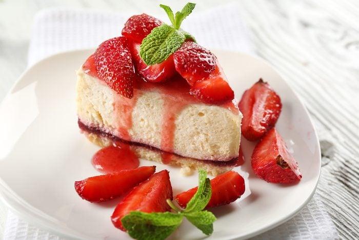 Une tarte congelée aux fraises réconfortantes