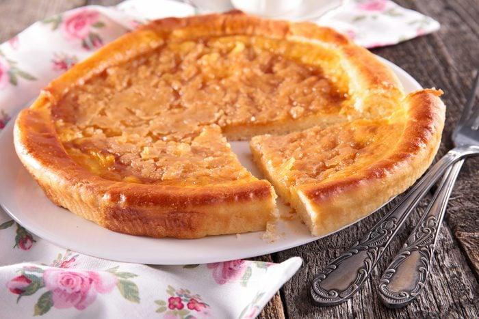 Une tarte au sucre réconfortante
