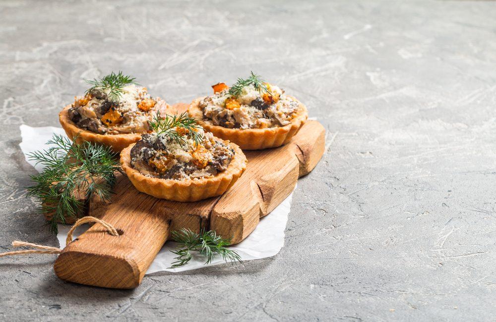 Une recette de tartelette au fromage Oka et champignons