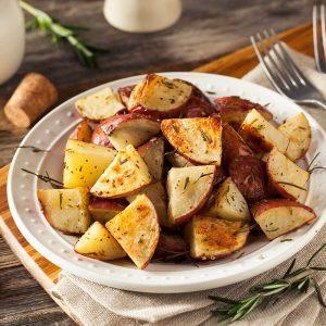 Pommes de terre rouges rôties au miel