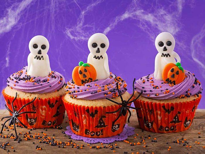 Cupcake monstrueux pour l'Halloween.