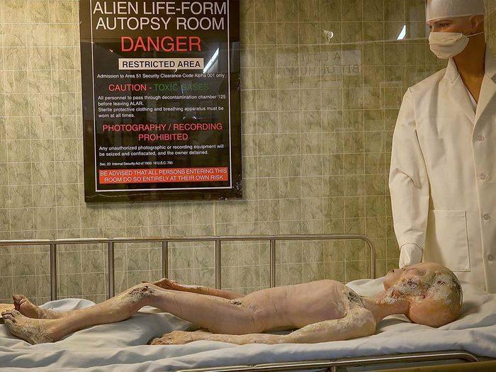 Le musée des OVNIS à Roswell, avec ses débris de cadavres extra-terrestres est une destination assez terrifiante.