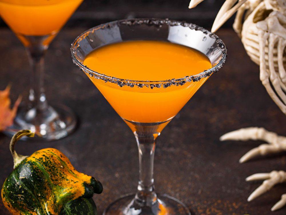 Idée de cocktail pour l'Halloween.