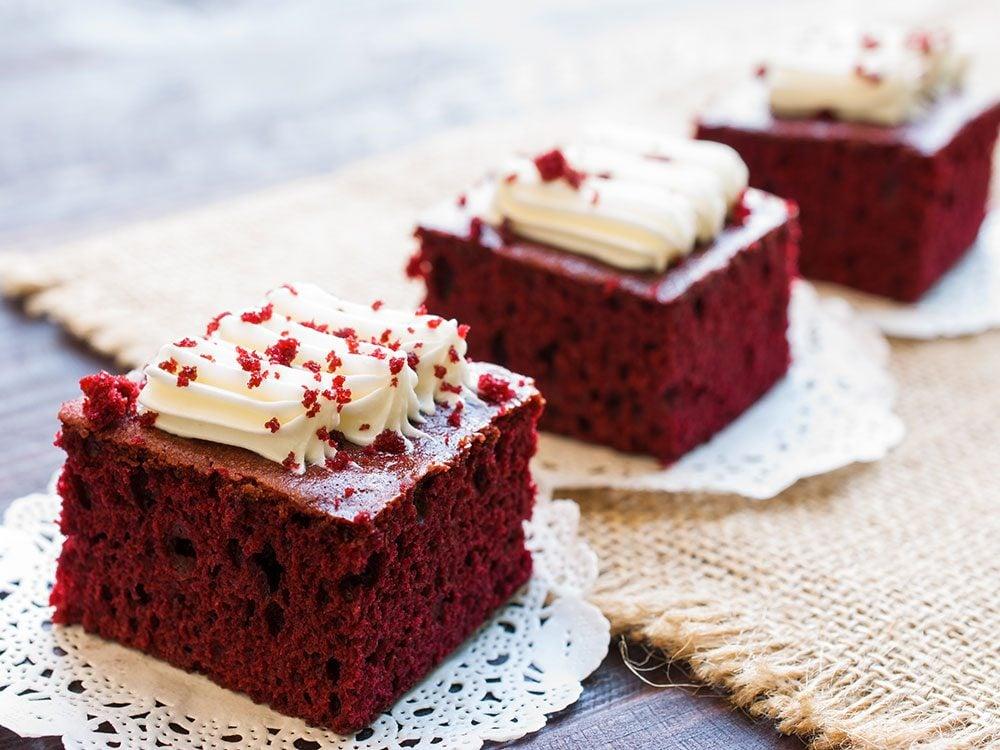 Gâteaux ensanglantés pour l'Halloween.