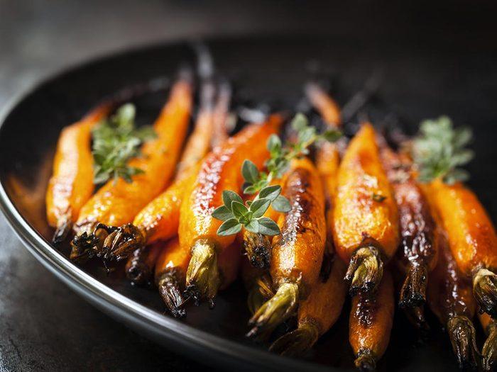 Lors d'activités sociales, évitez de manger des carottes.