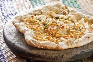 Pizza au fromage de chèvre